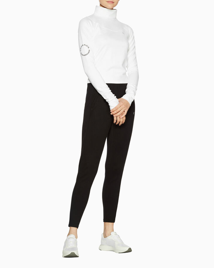 CALVIN KLEIN SPACE LINES MOCK NECK PULLOVER
