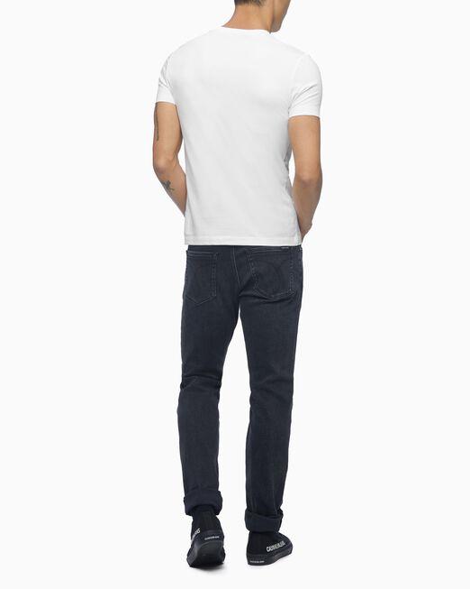 CALVIN KLEIN 남성 슬림핏 인스티튜셔널 로고 반팔 티셔츠