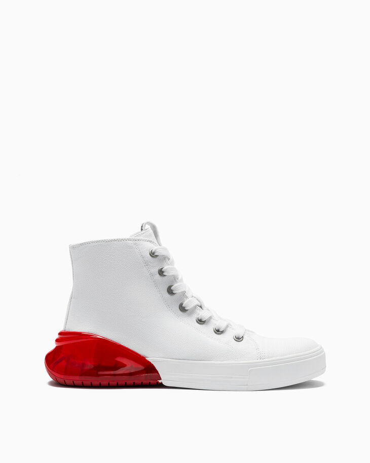 CALVIN KLEIN HIGH TOP CANVAS SNEAKERS