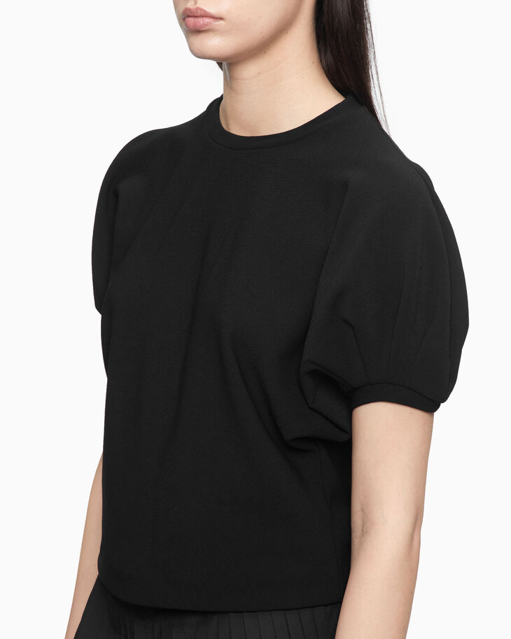 CALVIN KLEIN PUFF SLEEVE CROPPED TOP