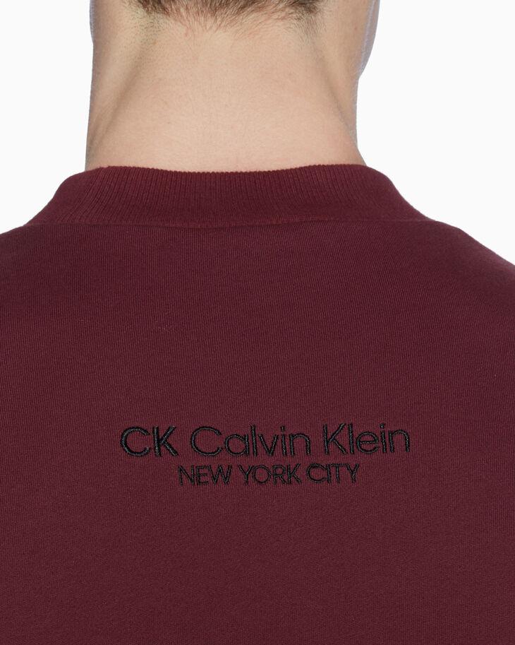 CALVIN KLEIN FETT LOGO PATCH SWEATSHIRT