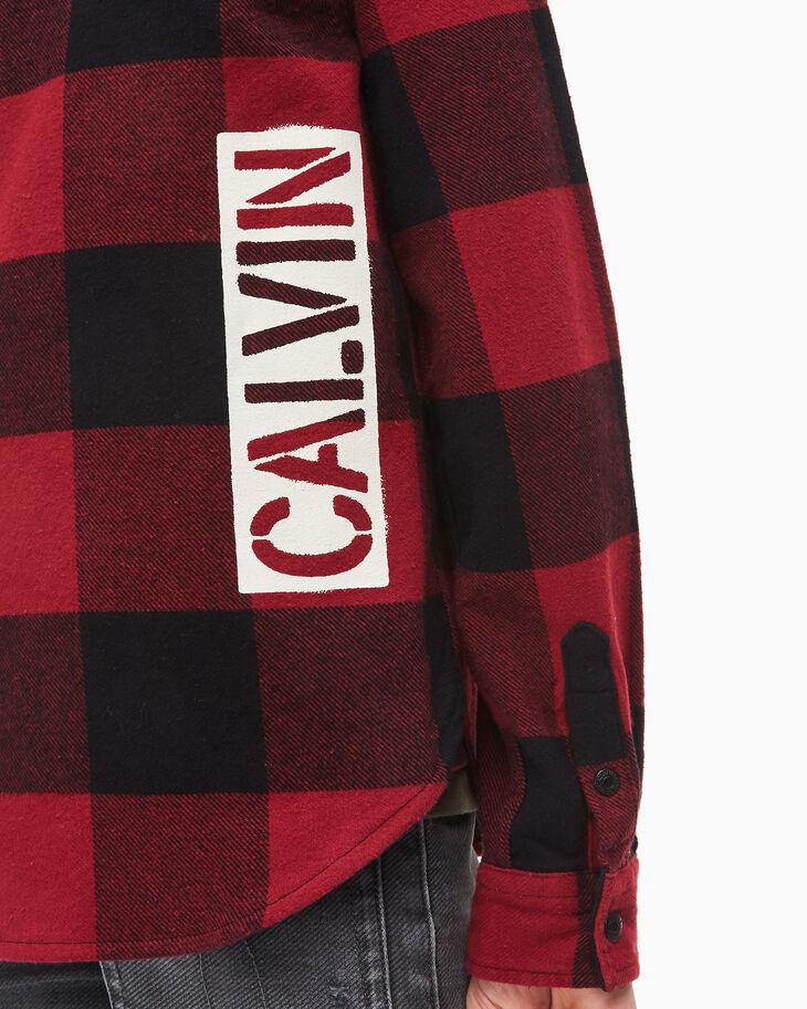 CALVIN KLEIN BOYS' BUFFALO CHECK SHIRT
