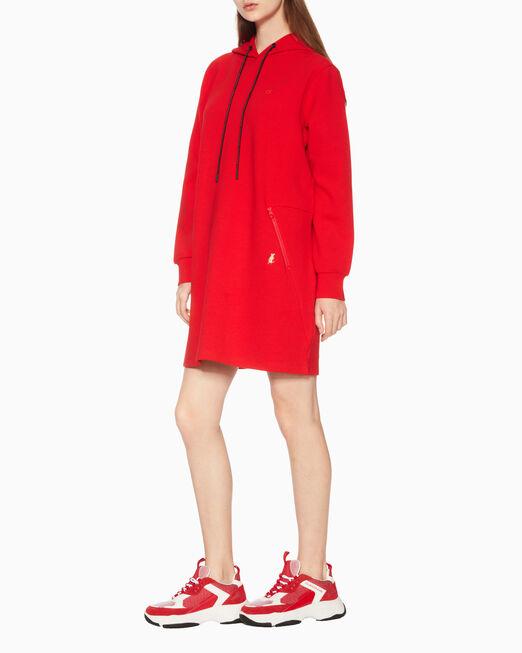 CALVIN KLEIN 여성 씨엔와이 니트 드레스