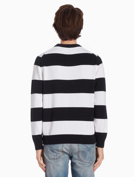 CALVIN KLEIN 스트라이프 풀오버 스웨터
