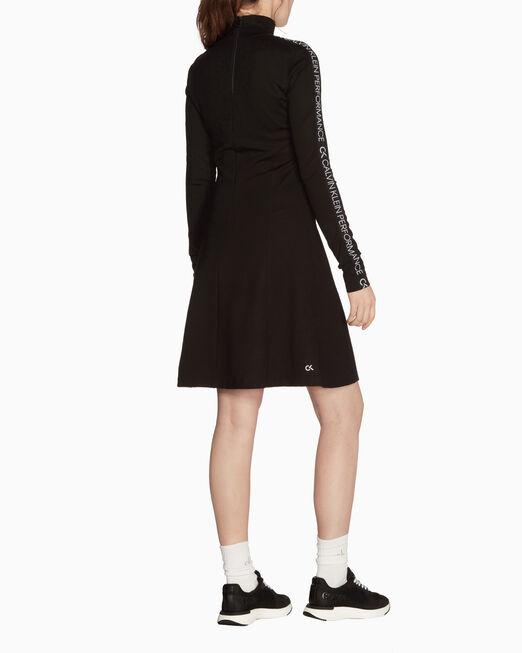 CALVIN KLEIN GALAXY 로고 테이프 드레스
