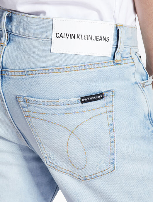 CALVIN KLEIN DISTRESSED TAPERED 쇼츠