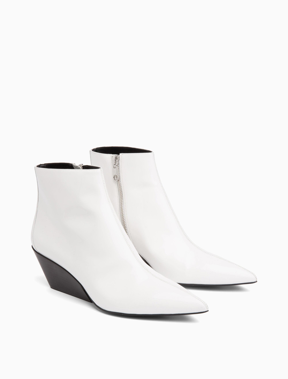 freda block heel ankle bootie