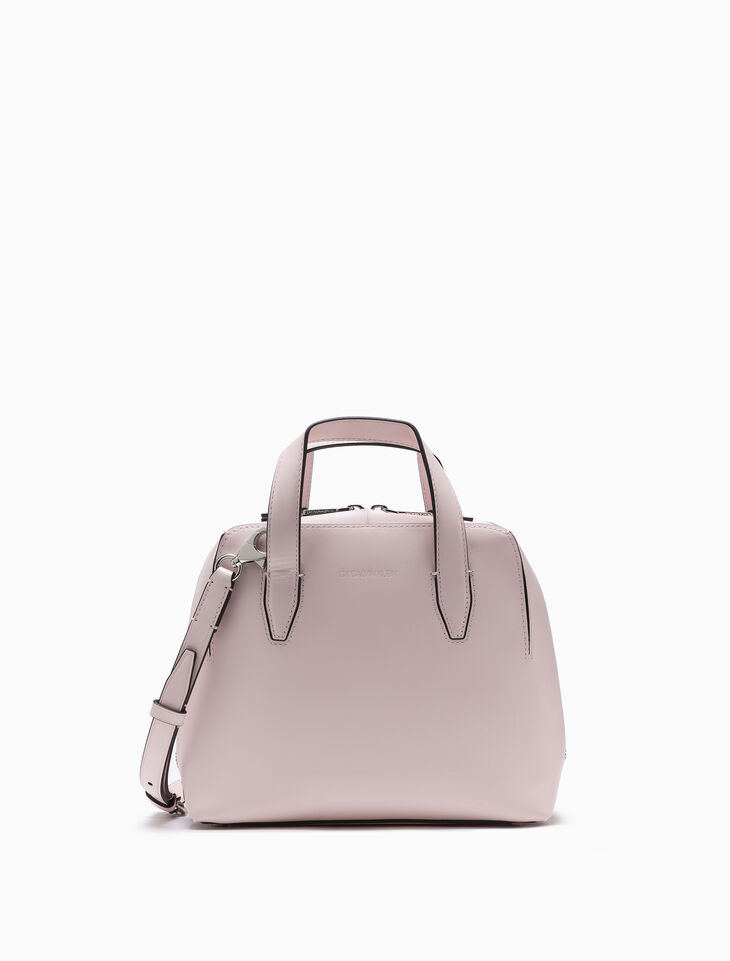 CALVIN KLEIN SMALL LEATHER SATCHEL
