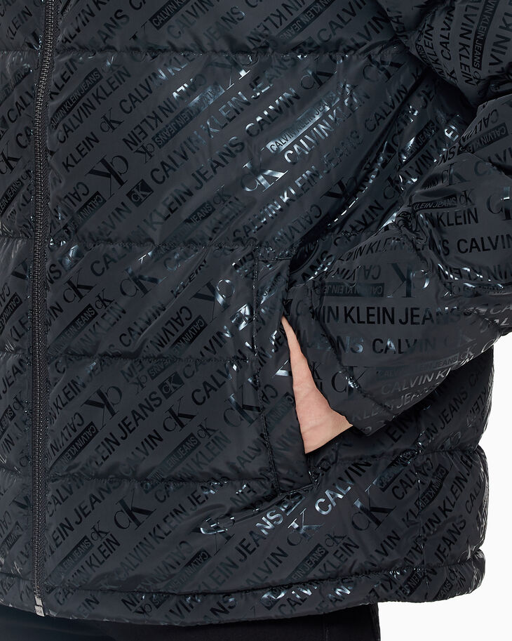 CALVIN KLEIN ALL-OVER PRINT DOWN PUFFER JACKET