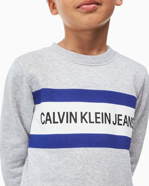 CALVIN KLEIN 남아용 로고 박스 스웨트셔츠