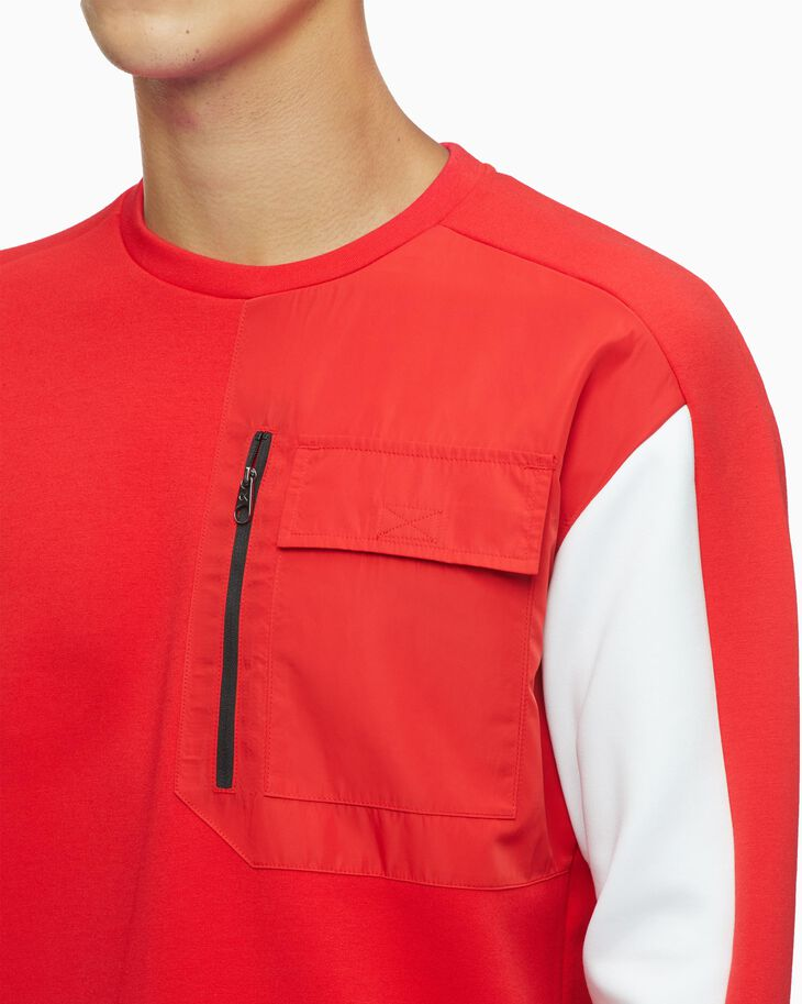 CALVIN KLEIN CHINESE NEW YEAR CAPSULE COLOR BLOCK POCKET TEE