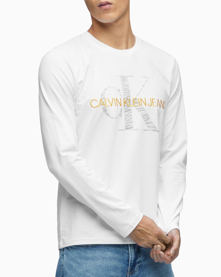 CALVIN KLEIN ANIMAL PATTERN MONOGRAM TEE
