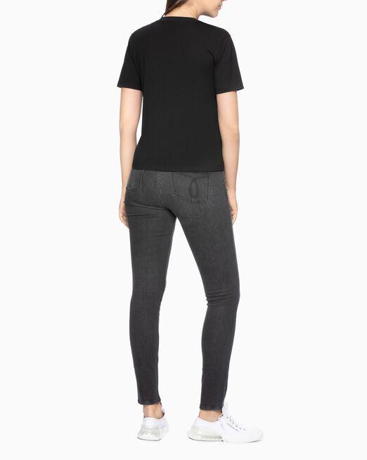 CALVIN KLEIN SATIN LOGO PHOTO PRINT 티셔츠