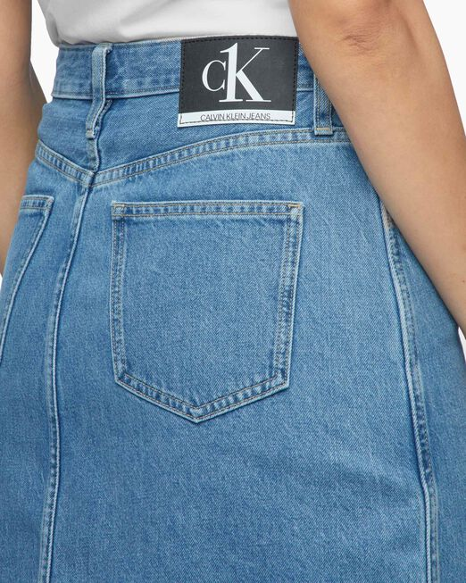 CALVIN KLEIN 여성 CK1 데님 스커트