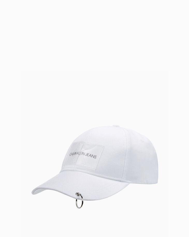CALVIN KLEIN PIERCED MONOGRAM CAP