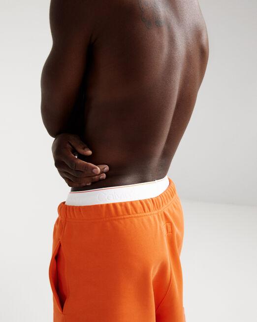 CALVIN KLEIN 남성 프로젝트 오렌지 오가닉 코튼 조거 쇼츠(블랙)