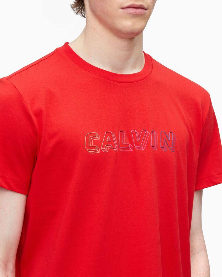 CALVIN KLEIN CALVIN LOGO PIMA COTTON TEE