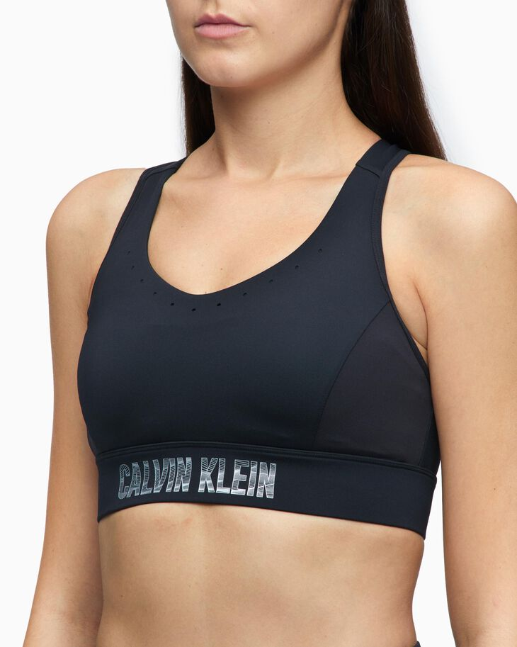 CALVIN KLEIN DIGITAL MOTION REFLECTIVE LOGO HOLE BRA