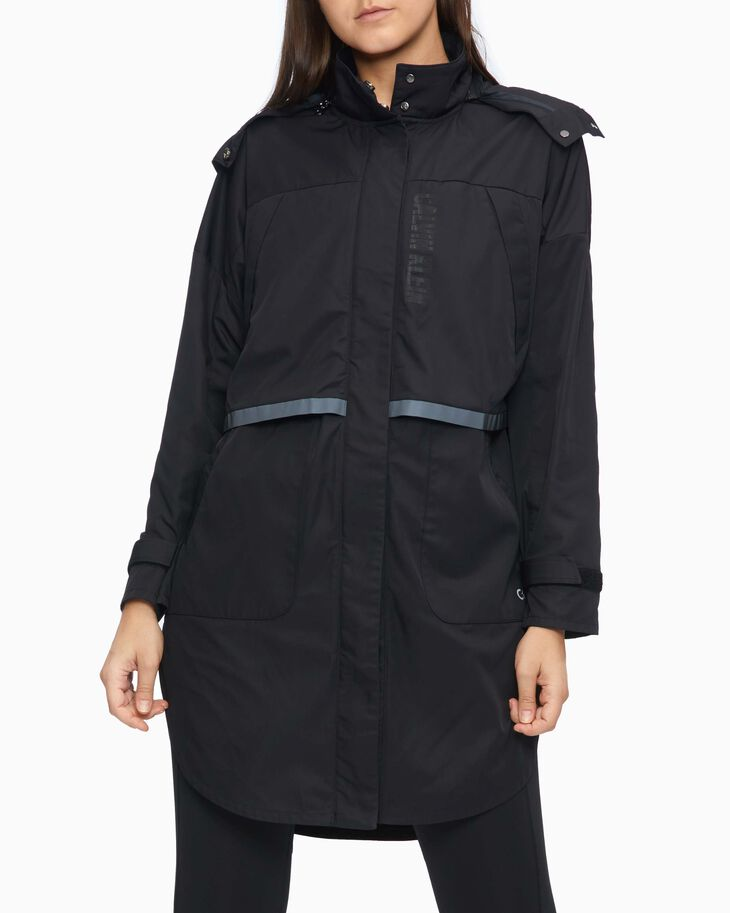 CALVIN KLEIN DIGITAL MOTION WINDBREAKER WITH DETACHABLE HOOD