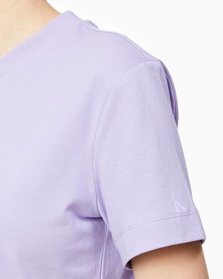 CALVIN KLEIN EMBELLISHED LOGO ピマコットンTシャツ