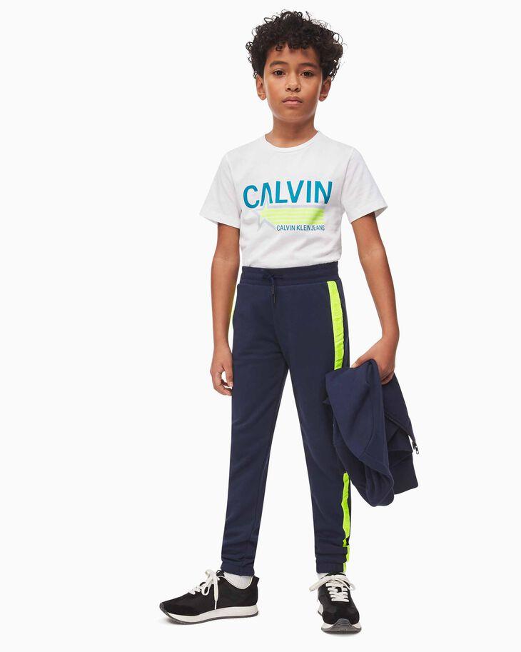 CALVIN KLEIN BOYS NEON TAPE JOGGERS