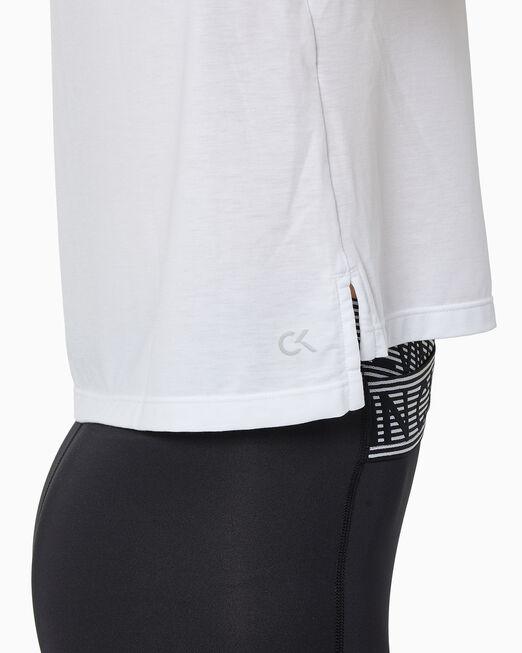 CALVIN KLEIN 여성 리플렉티브 로고 크롭 반팔 티셔츠