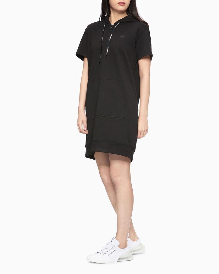 CALVIN KLEIN SHORT SLEEVE SWEATSHIRT DRESS
