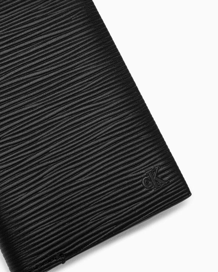 CALVIN KLEIN TEXTURED MONOGRAM FOLD CARD CASE
