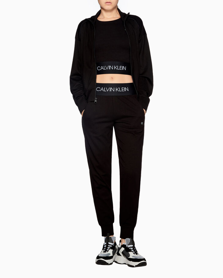CALVIN KLEIN ACTIVE ICON LOGO CROPPED SWEATSHIRT