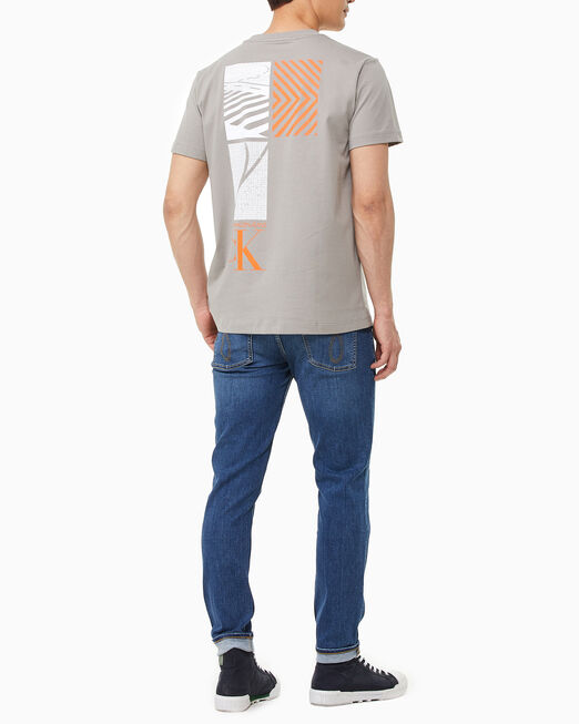 CALVIN KLEIN 남성 그래픽 클린 반팔 티셔츠