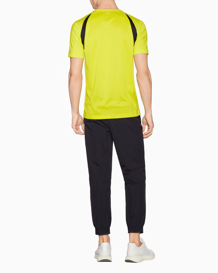 CALVIN KLEIN SPACE LINES MIXED FABRIC TEE