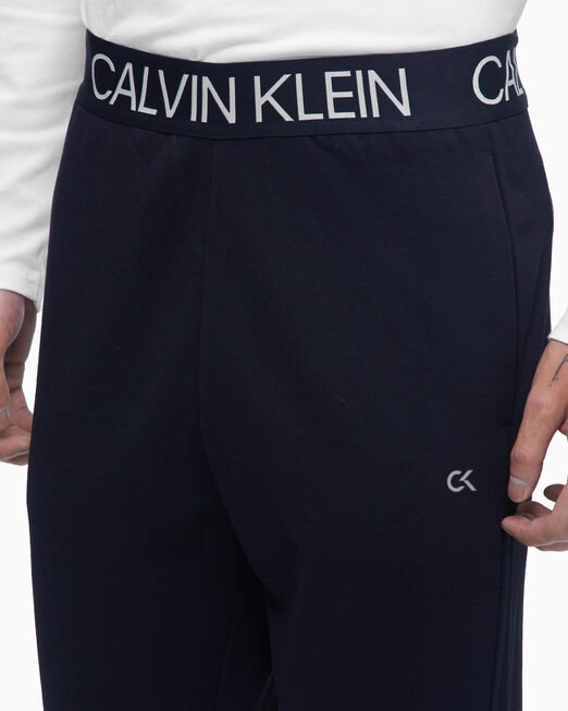 CALVIN KLEIN 남성 액티브 아이콘 로고 웨이스트밴드 니트 팬츠