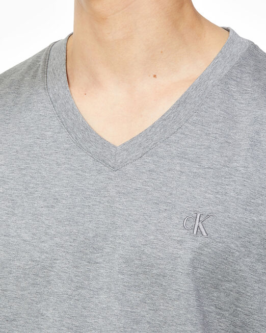 CALVIN KLEIN 남성 슬림핏 머서라이즈 브이넥 반팔 티셔츠