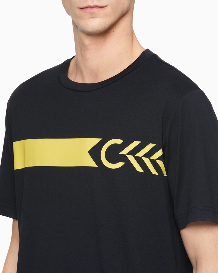 CALVIN KLEIN STATEMENT ESSENTIALS FISHBONE TEE