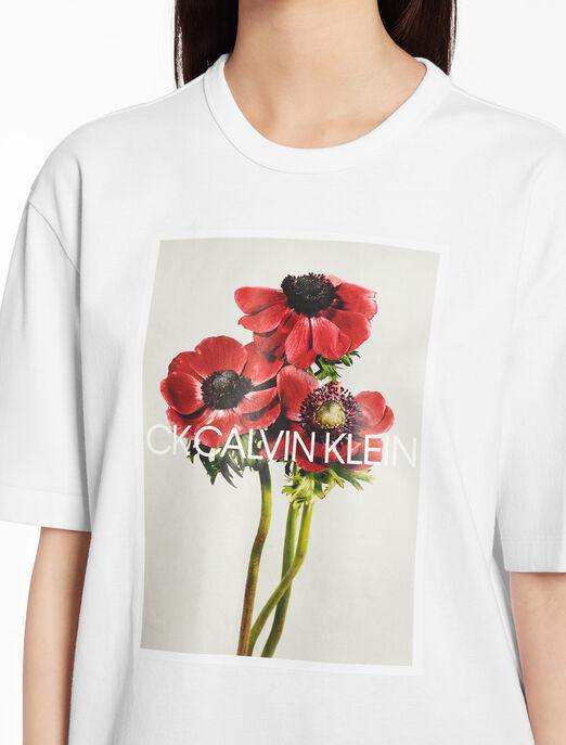 CALVIN KLEIN Flower print top with short sleeves