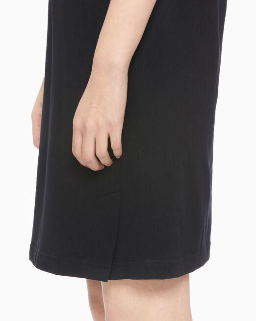 CALVIN KLEIN 여성 로고 칼라 폴로 드레스