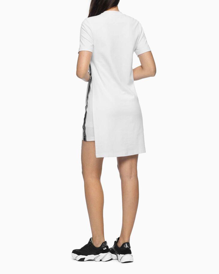 CALVIN KLEIN LAYERED SIDE SLIT DRESS
