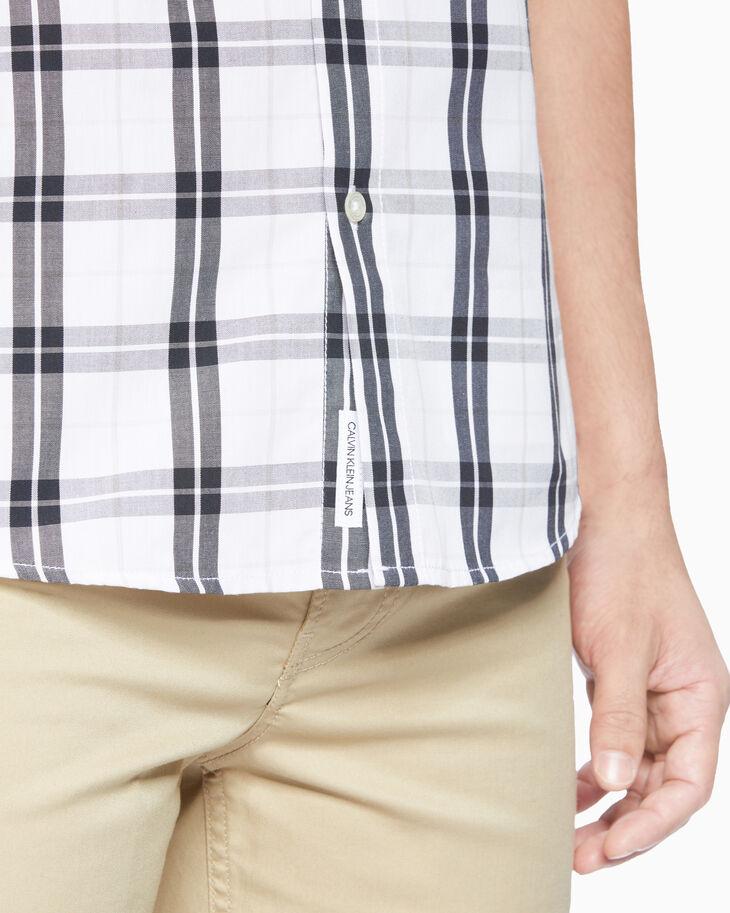 CALVIN KLEIN 37.5 PLAID 短袖襯衫