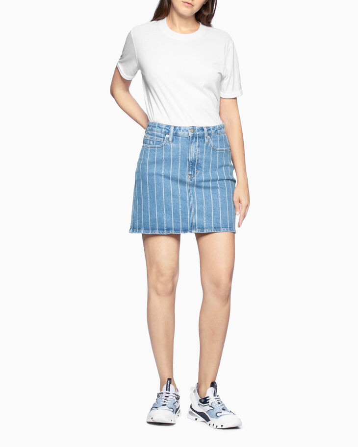 CALVIN KLEIN HIGH RISE ALL-OVER LOGO MINI SKIRT