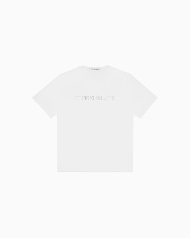 CALVIN KLEIN INSTITUTIONAL METALLIC LOGO TEE