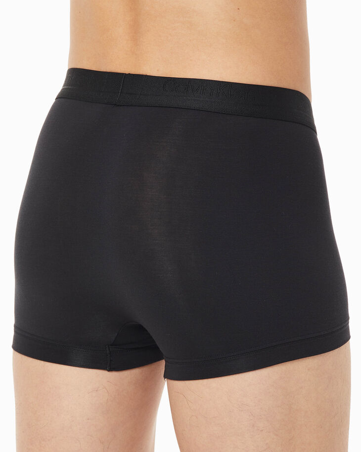 CALVIN KLEIN CK BLACK SILK KNIT LOW RISE TRUNKS