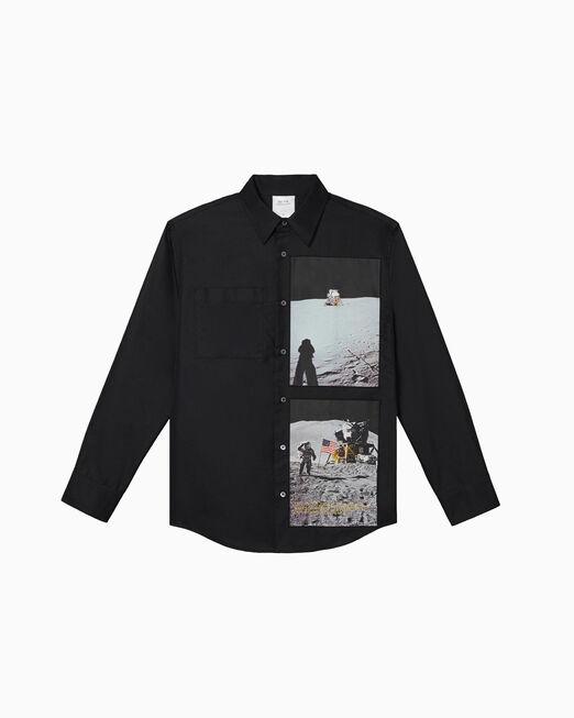 CALVIN KLEIN MOON LANDINGS 그래픽 롱 슬리브 셔츠
