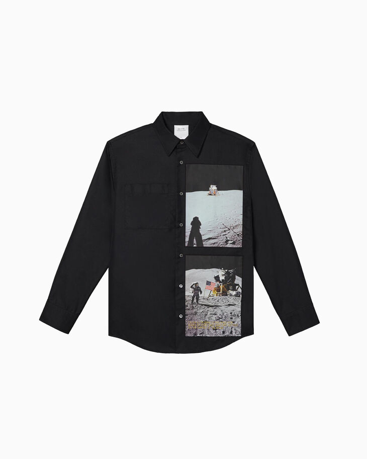 CALVIN KLEIN MOON LANDINGS GRAPHIC LONG SLEEVE SHIRT