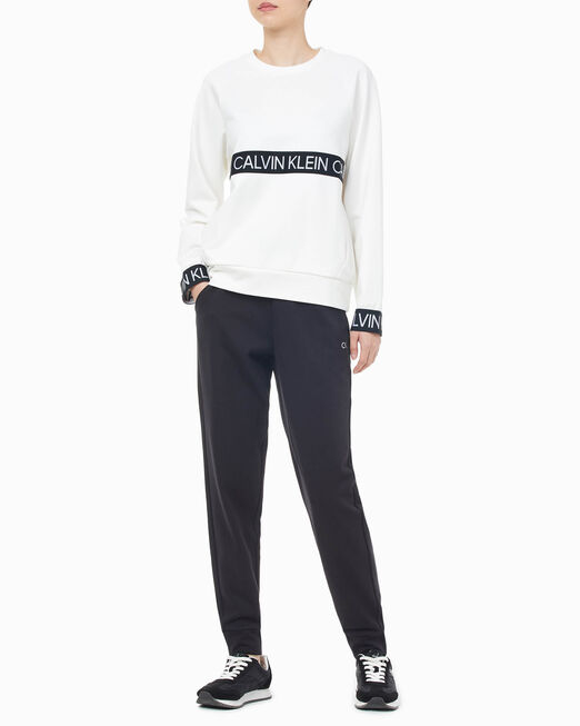 CALVIN KLEIN 여성 액티브 아이콘 엘라스틱 스웨트팬츠