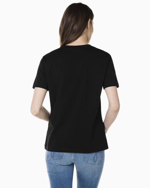 CALVIN KLEIN 여성 스트레이트핏 모노그램 로고 반팔 티셔츠