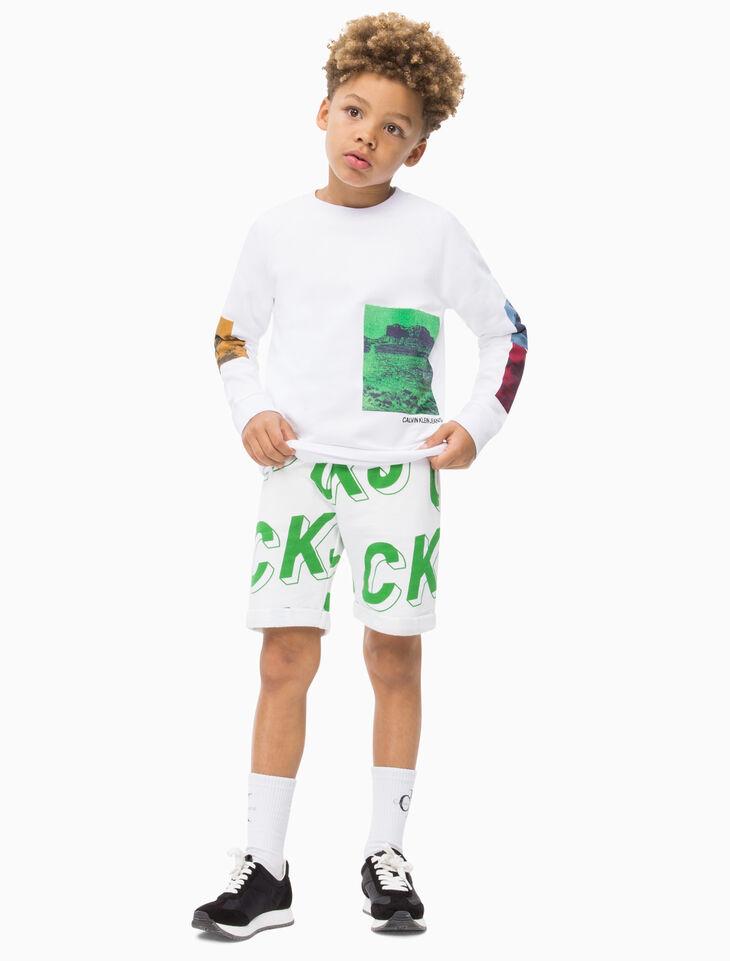 CALVIN KLEIN BOYS PHOTO PRINT 運動上衣