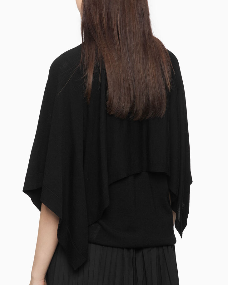 CALVIN KLEIN TWO-LAYER KNIT ケープトップ