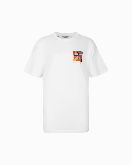 CALVIN KLEIN 여성 CNY 보이핏 반팔 티셔츠