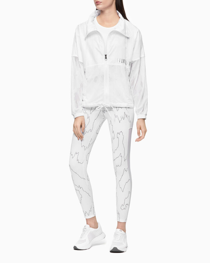 CALVIN KLEIN SHEER LACE ZIP UP JACKET