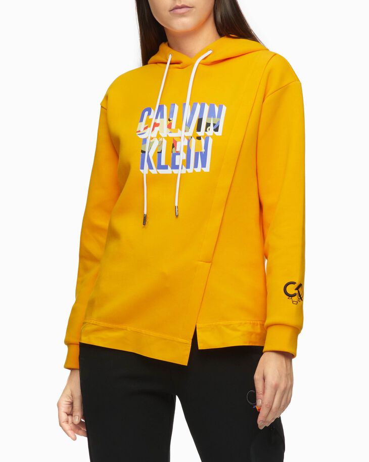 CALVIN KLEIN CHINESE NEW YEAR CAPSULE FRONT OVERLAY HOODIE